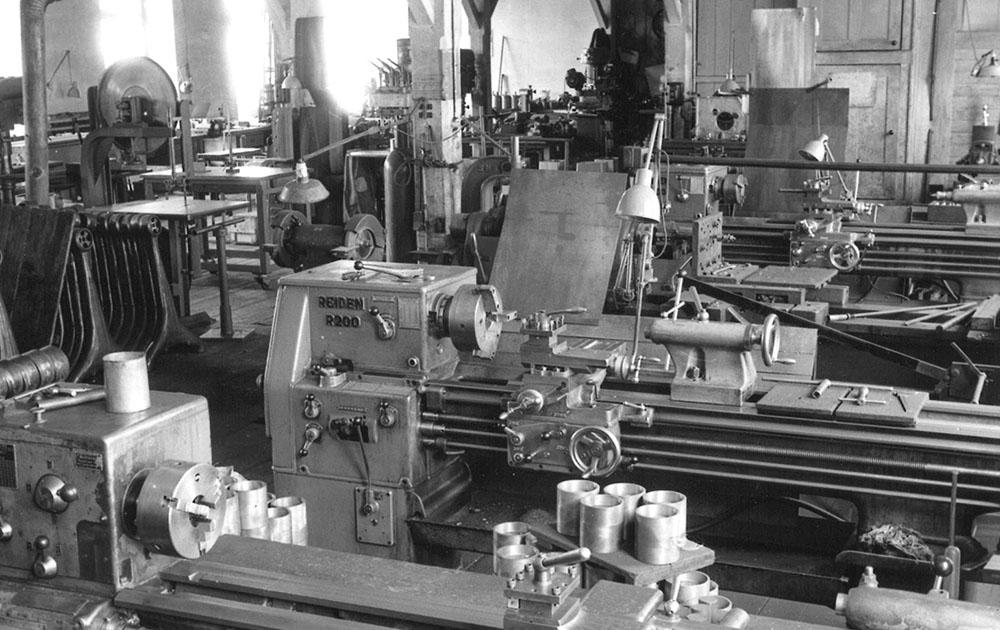 Einblick in die Produktionshalle